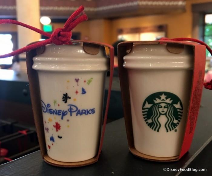 Disney Parks Starbucks  Hot Beverage Cup Ornaments