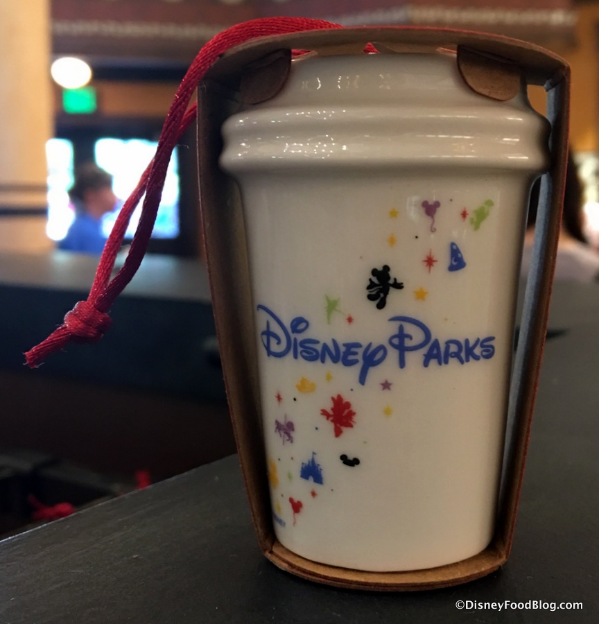 spotted disney parks exclusive starbucks mug and cup ornaments