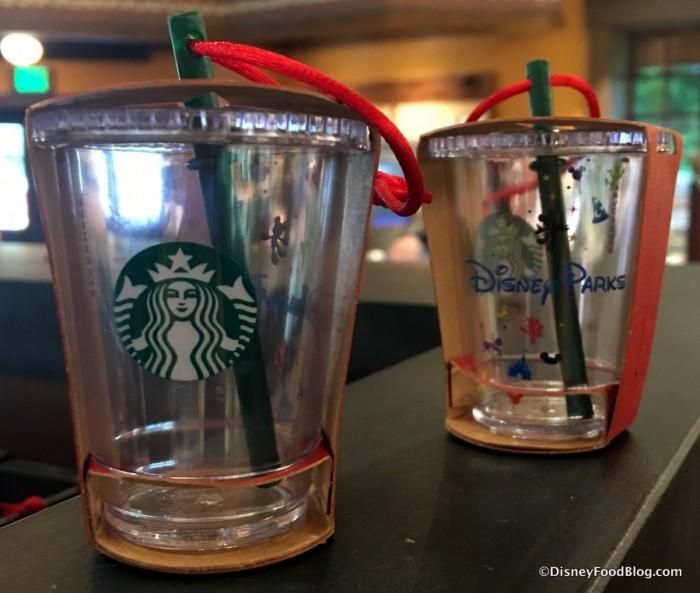 Disney Parks Starbucks  Cold Beverage Tumbler Ornaments