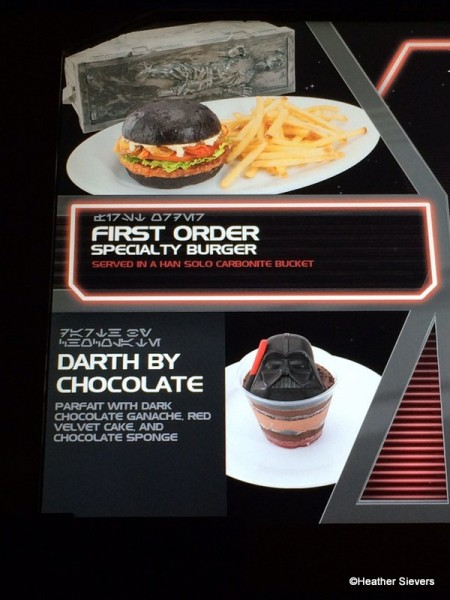 First Order Burger on the Menu Board