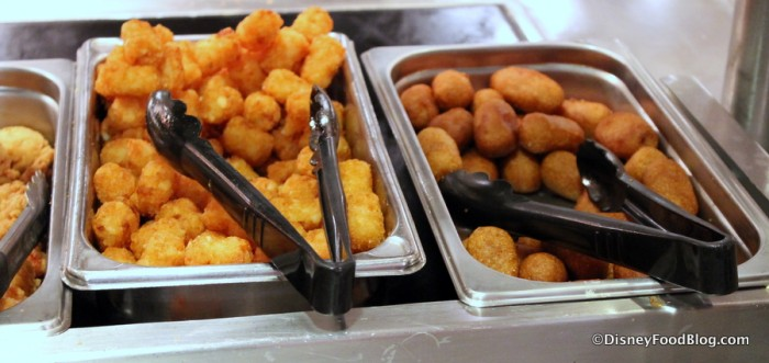 Tater Tots and Corn Dog Nuggets