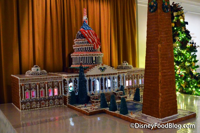 Gingerbread Display of the U.S Capitol Building