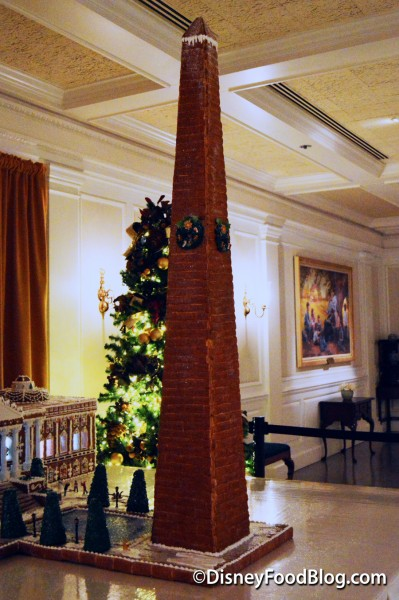 Gingerbread Display of the Washington Monument