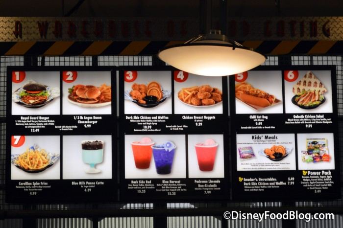 New Menu At Backlot Express