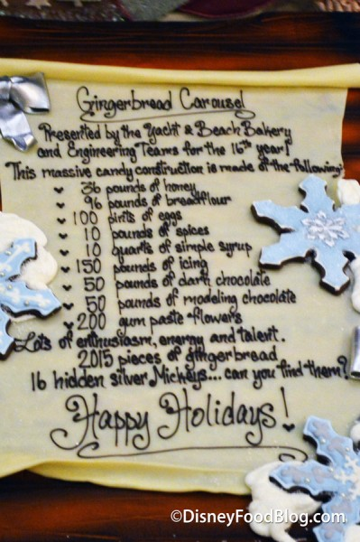 Beach Club Gingerbread Carousel Ingredient List