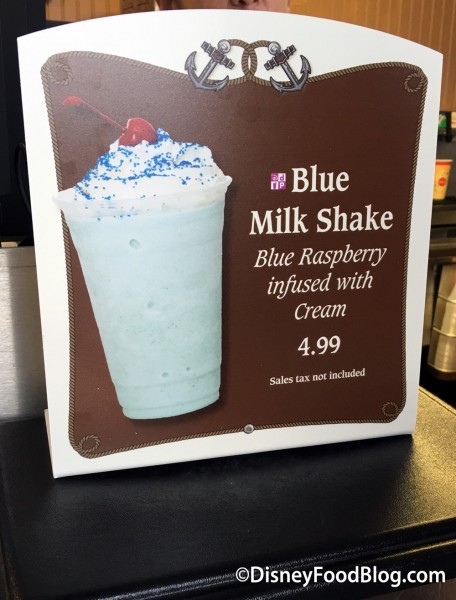 Blue Milk Shake at Min and Bill's Dockside Diner