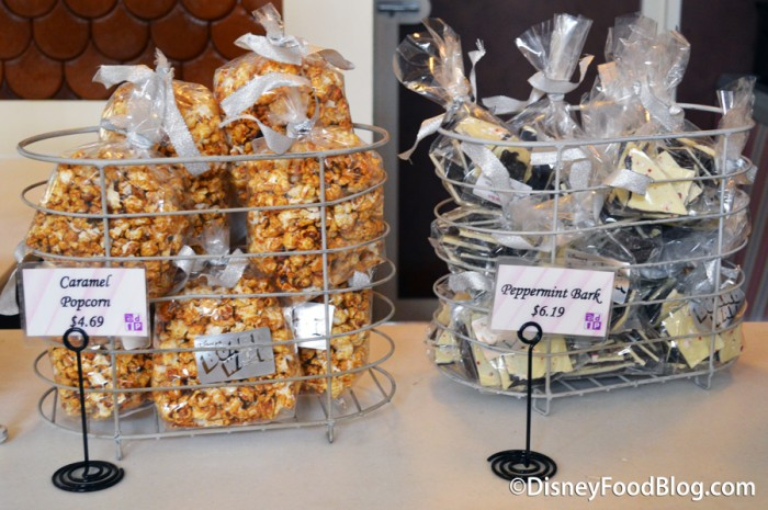 Caramel Popcorn and Peppermint Bark