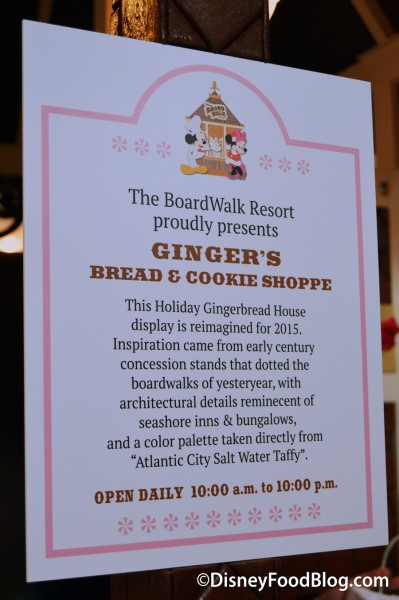 Ginger's Bread and Cookie Shoppe Sign