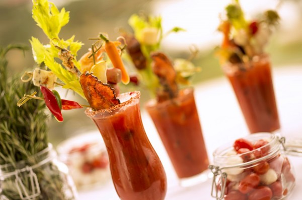 Bloody Marys from the Bloody Mary Bar