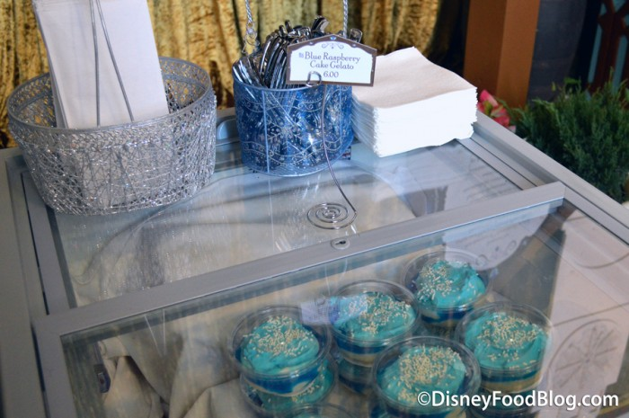 Blue Raspberry Cake Gelato