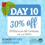 DFB 12 Days of Christmas: Day 10 — 30% Off DFB Guide Certificates!