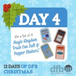 DFB 12 Days of Christmas: Win a Set of 4 Magic Kingdom Trash Can Salt and Pepper Shakers!