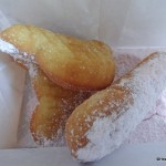 Dining in Disneyland Review: Candy Cane Beignets at the Mint Julep Bar