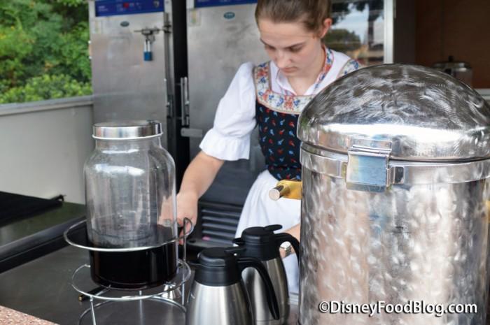 Cast Member Preparing The Black Forest Cake