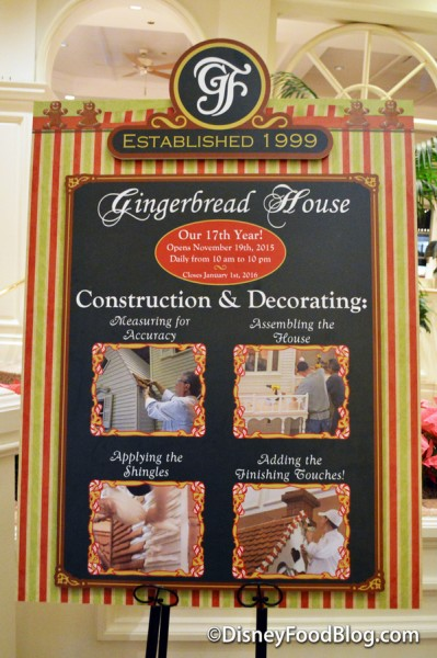 Gingerbread House operating hours and construction story