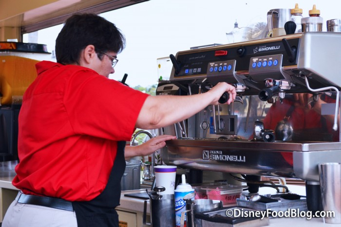 Barista Preparing the Espresso