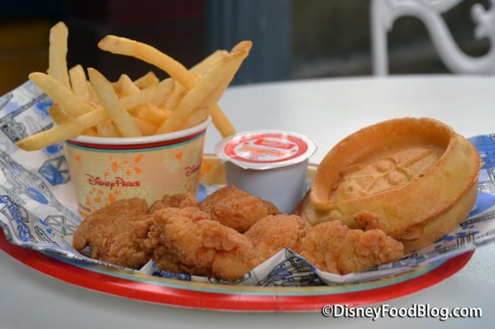 Padawan Dark Side Chicken And Waffles