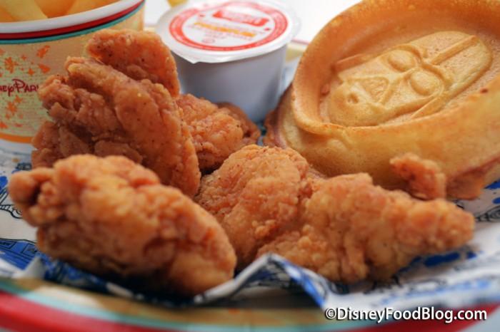 Dark Side Chicken and Waffles