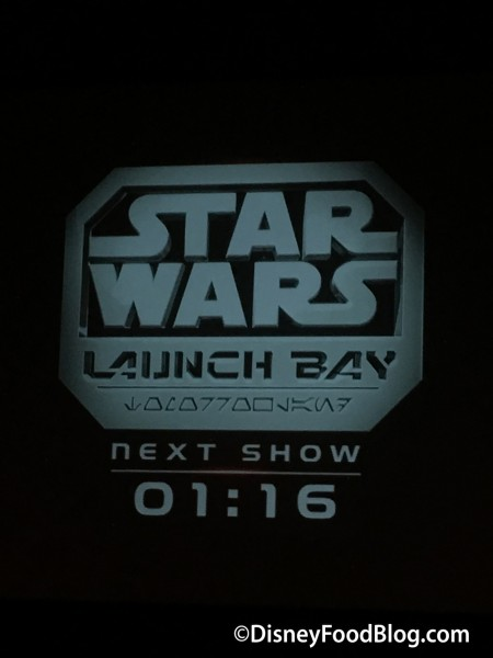 Film Being Played At Launch Bay
