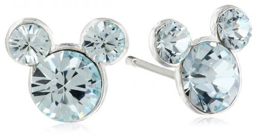 Mickey Mouse Birthstone Earrings