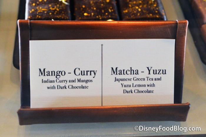 Mango-Curry and Matcha-Yuzu