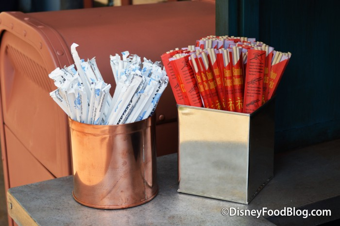 Paper Straws and Chop Sticks