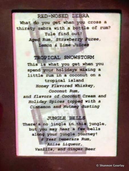 Holiday Drink Menu at Trader Sam's Enchanted Tiki Bar -- Click to Enlarge