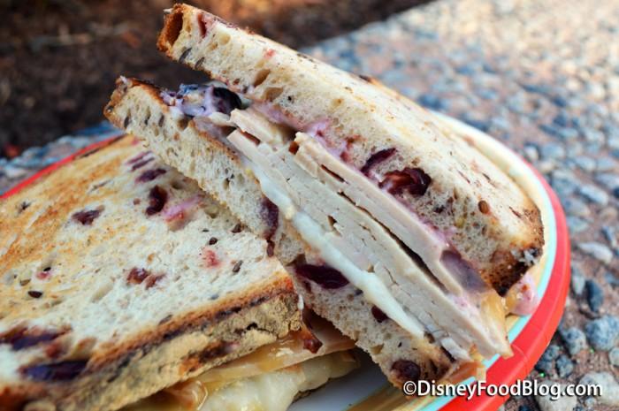 Warm Turkey Sandwich Cross Section