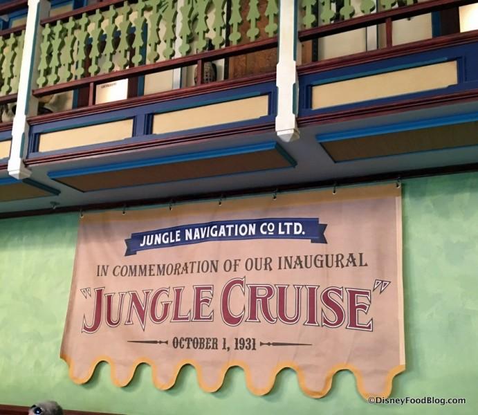 Inaugural Jungle Cruise Banner