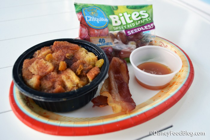 Kid's French Toast Bread Pudding Meal