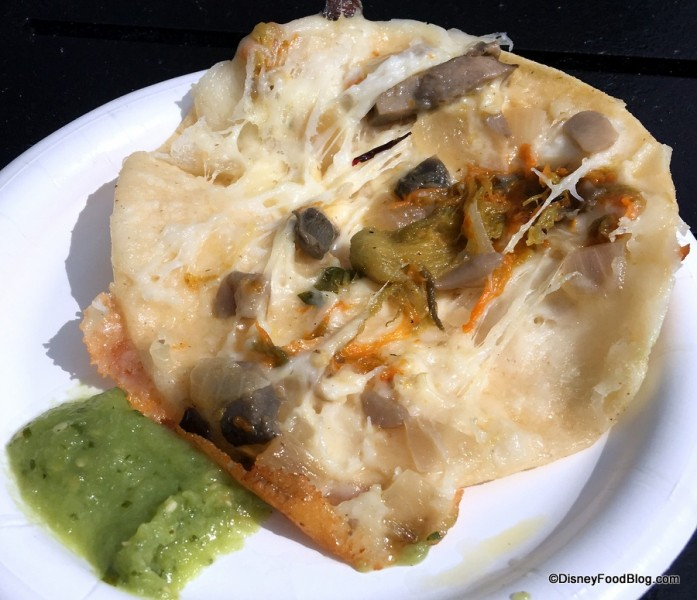 Corn Tortilla Quesadilla Inside