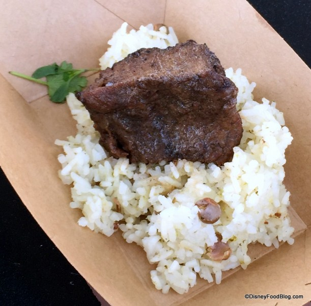 Jamaican-braised Beef with Pigeon Pea Rice and Micro Cilantro
