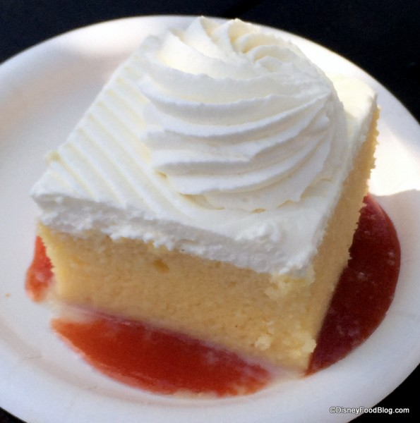 Tres Leches with Guava Puree