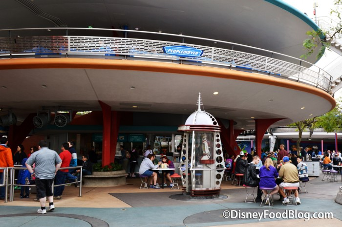 The Peoplemover Track above The Lunching Pad