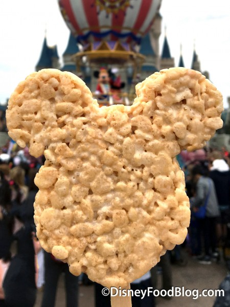 Enjoy a Mickey Rice Krispy Treat During the Parade!