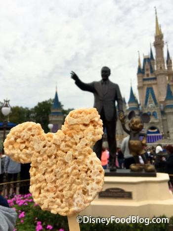 Enjoy a Mickey Rice Krispy Treat on Main Street USA!
