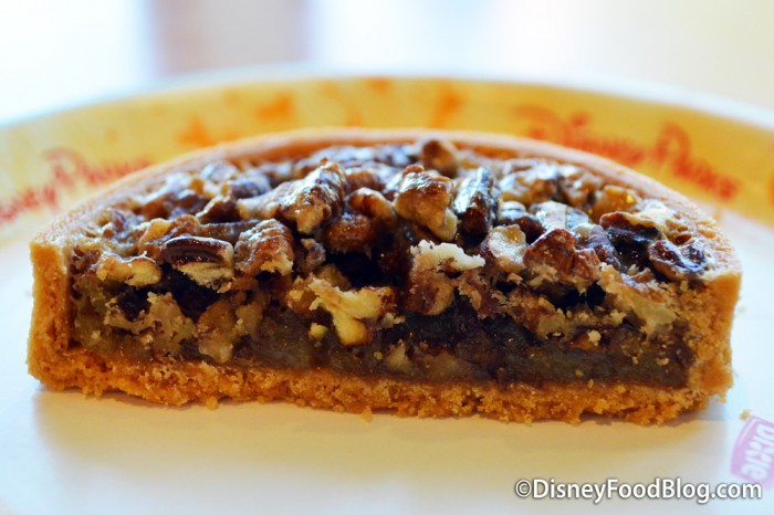 Cross Section of the Mini Pecan Tart