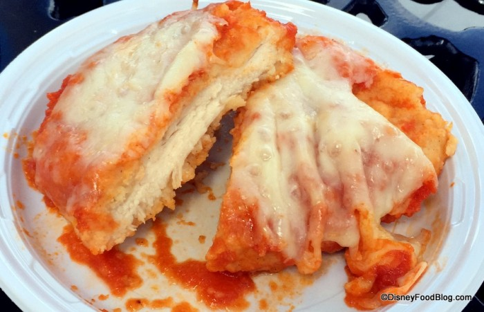 Pollo alla Parmigiana Cross-Section