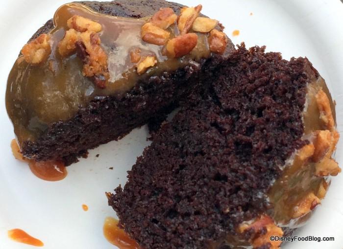 Warm Chocolate Cake Cross-Section