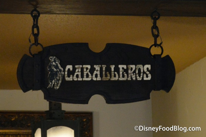 Caballeros Room Sign