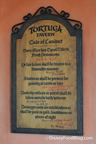 Tortuga Tavern's Code of Conduct