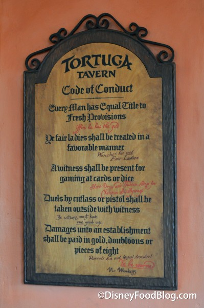 Tortuga Tavern's Code of Conduct