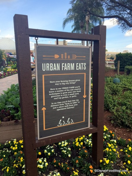 Urban Eats, One of the Outdoor Kitchens Returning to the Epcot Flower and Garden Festival in 2017