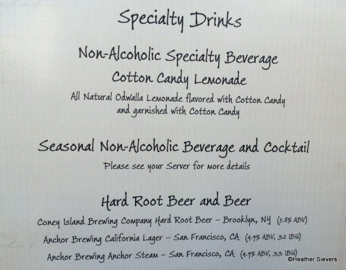 A Sampling of Specialty Drinks