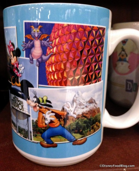 Attractions and Characters on Mug