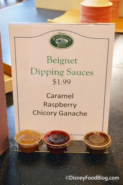 Beignet Dipping Sauces at Sassagoula!