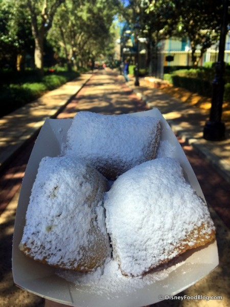 Beignets at Disney's Port Orleans French Quarter