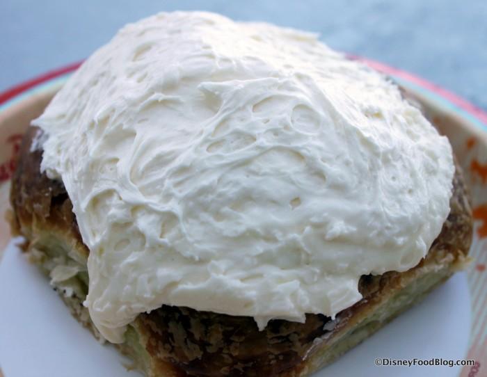 BoardWalk Cinnamon Roll -- Yay for Frosting!