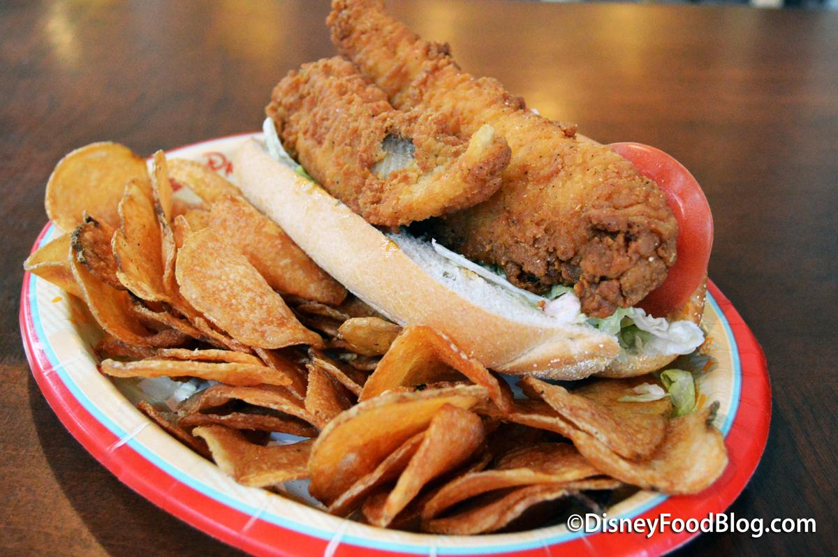 Cajun Catfish Po' Boy & Cooling Vegetable Salad Recipe ...