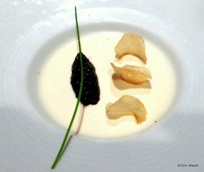 Cauliflower Panna Cotta with Siberian Caviar